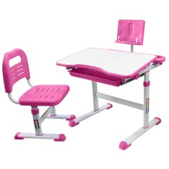 Rifforma Комплект парта и стул SET-17 белый/розовый (RFDC-0317)