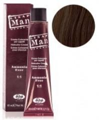Оттенок 6 темный-блондин Безаммиачный профессиональный крем-краситель для мужчин Lisap Man Color 60мл