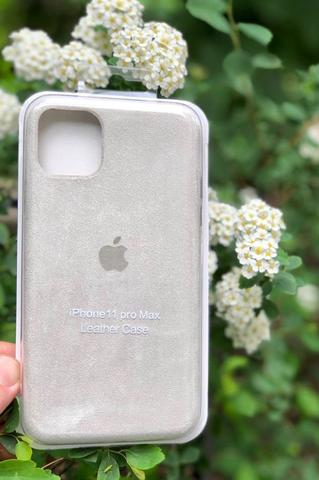 Чехол iPhone 11 Pro Alcantara case full /white/