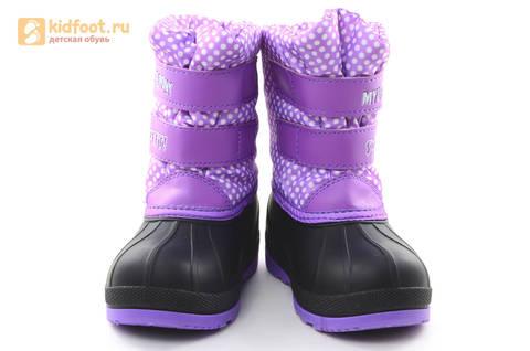 Зимние сапоги для девочек непромокаемые с резиновой галошей Пони (My little Pony), цвет сиреневый, Water Resistant. Изображение 5 из 15.