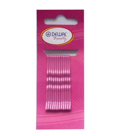 Невидимки волнистые розовые 50 мм, DEWAL Beauty, 12 шт.