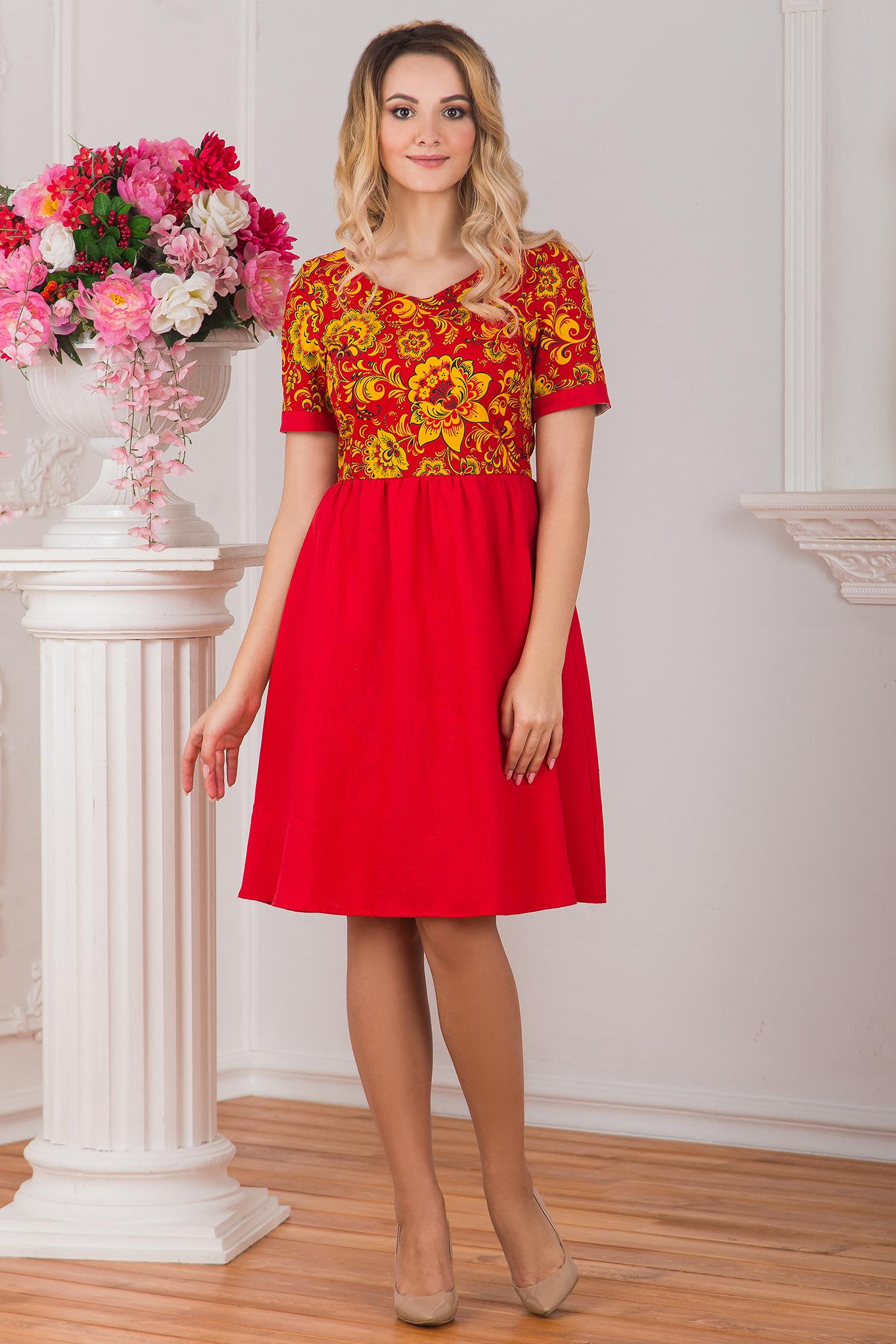 Платье льняное Расписное