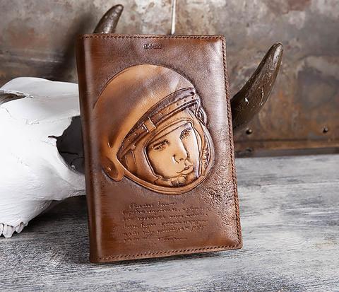 BC194 Ежедневник «Гагарин» в кожаной обложке (A5)