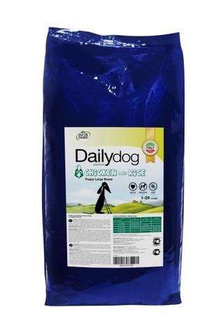 Сухой корм Dailydog Puppy Large Breed для щенков крупных пород с курицей и рисом 12 кг