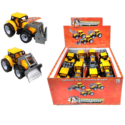 1001TD0013 Машинка с механизмом Pull Back Truck Toys  1кор*8бл*16 шт