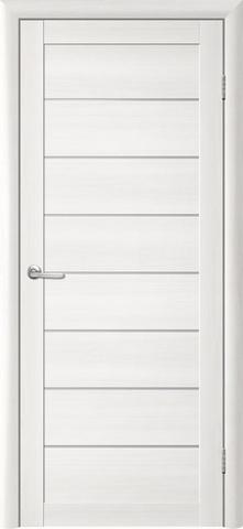 Дверь TrendDoors TDT-1, стекло белое матовое, цвет лиственница белая, остекленная