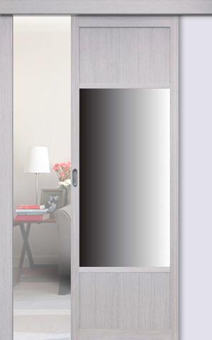 Перегородка межкомнатная Optima Porte 131.111 зеркало, цвет дуб серый, глухая (за 1 кв.м)
