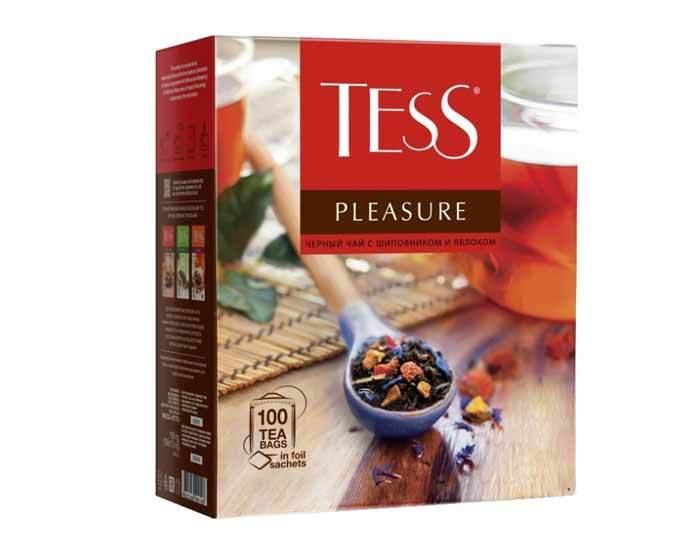 Чай черный в пакетиках Tess Pleasure 100 пак/уп, 1,5 г