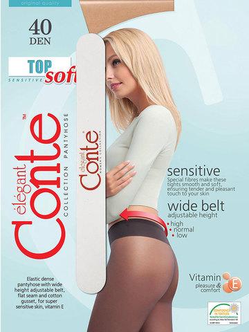 Колготки Top Soft 40 (с пилочкой для ногтей) Conte