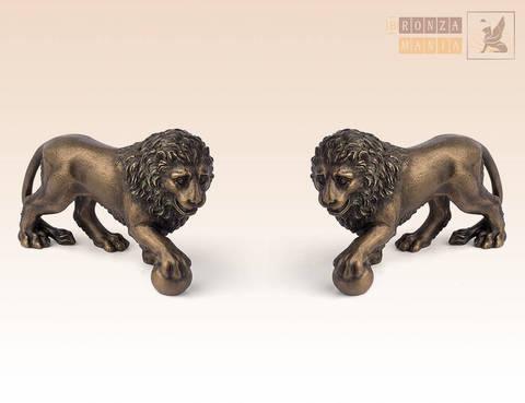 статуэтка Лев с шаром правый и левый (пара)