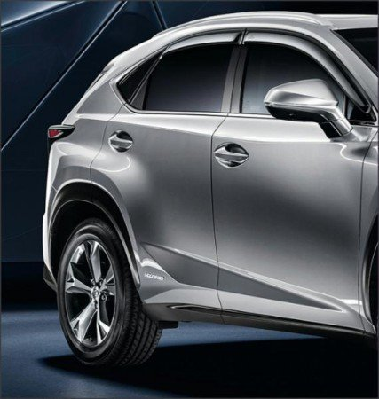 Дефлекторы на окна LEXUS PZ451X053000 для Lexus NX 2015 г.в по н.в. abs chrome front upper grille for 2015 2016 lexus nx 200 nx200t nx300h center grill cover around trim car styling accessories