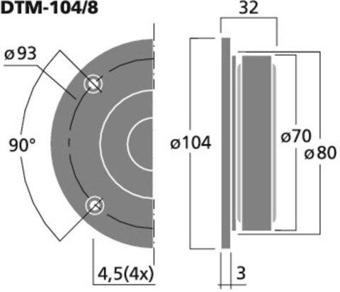 Monacor DTM-104/8
