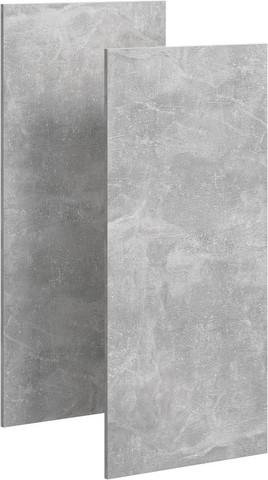Mobi комплект дверей пенала, цвет бетон светлый, 35 см