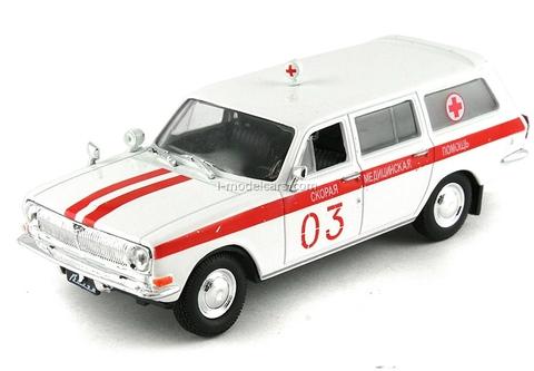 GAZ-24-03 Volga ASMP Ambulance USSR 1:43 DeAgostini Service Vehicle #15