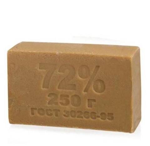 Мыло хоз.  72% 250 гр. 1/48 МЫЛОВАР