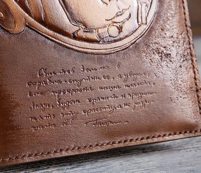 BC194 Ежедневник «Гагарин» в кожаной обложке (A5) фото 07