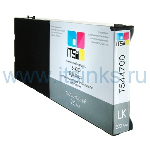 Картридж для Epson 4000/7600/9600 C13T544700 Light Black 220 мл