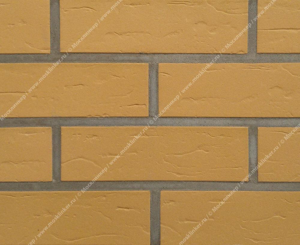 ABC - Objekta, Sandgelb, genarbt, 240х71х10, NF - Клинкерная плитка для фасада и внутренней отделки