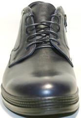 Синие мужские ботинки зимние на меху, натуральная кожа Ikoc