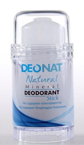 Deonat, Дезодорант Кристал чистый (голубой футляр, БЕСЦВЕТНЫЙ стик, twist-up), 80 гр