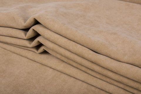 Штора готовая однотонная из портьерной ткани   цвет: бежевый   размер на выбор