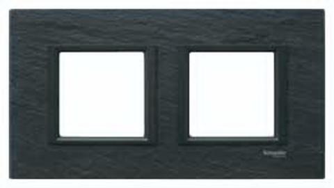 Рамка на 2 поста. Цвет Иберийский сланец. Schneider electric Unica Class. MGU68.004.7Z1