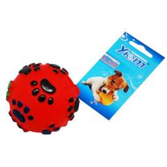 УЮТ игрушка для собак Мяч лапки разноцветный винил 6,5 см