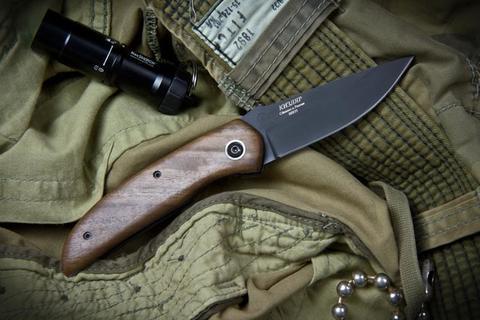 Складной нож Ирбис Черный Орех ШХ15
