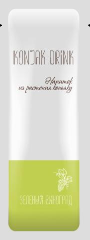 НОВИНКА! Десерт - кисель бескалорийный Konjak Drink ВИНОГРАД 13,3 гр