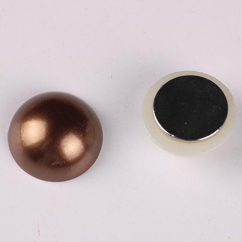 Магнит для платка коричневый жемчужина (магнитная брошь) mg-23-4