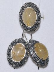 Элиза  (кольцо + серьги из серебра)