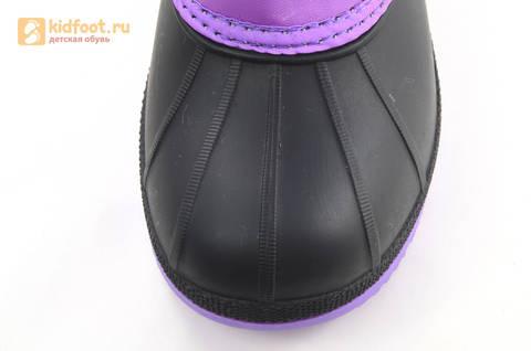 Зимние сапоги для девочек непромокаемые с резиновой галошей Пони (My little Pony), цвет сиреневый, Water Resistant. Изображение 10 из 15.