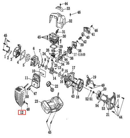 Кожух глушителя  для лодочного мотора T2 SEA-PRO