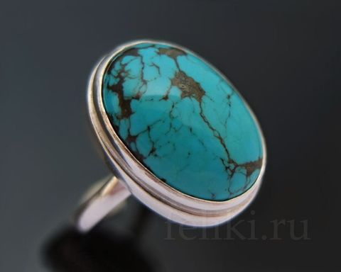 кольцо с бирюзой кс-7176