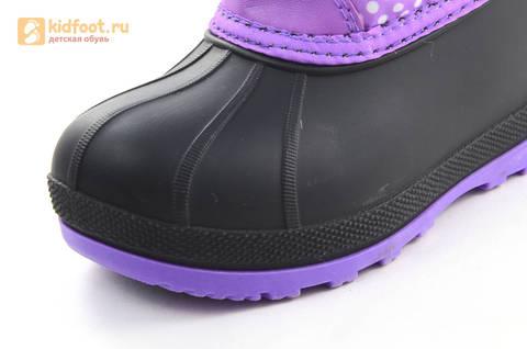 Зимние сапоги для девочек непромокаемые с резиновой галошей Пони (My little Pony), цвет сиреневый, Water Resistant. Изображение 11 из 15.