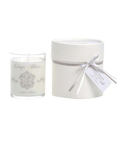 Ароматизированная свеча Белое белье, Amelie et Melanie