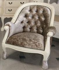 """Кресло мягкое """"Луис (Louis)"""" —  Слоновая кость (MK-2472-IV)"""