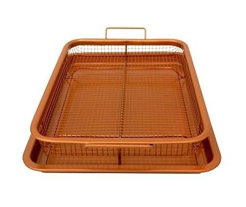 <p>Сетка-решетка для духовки, фритюра и барбекю Crispy Tray исключа...