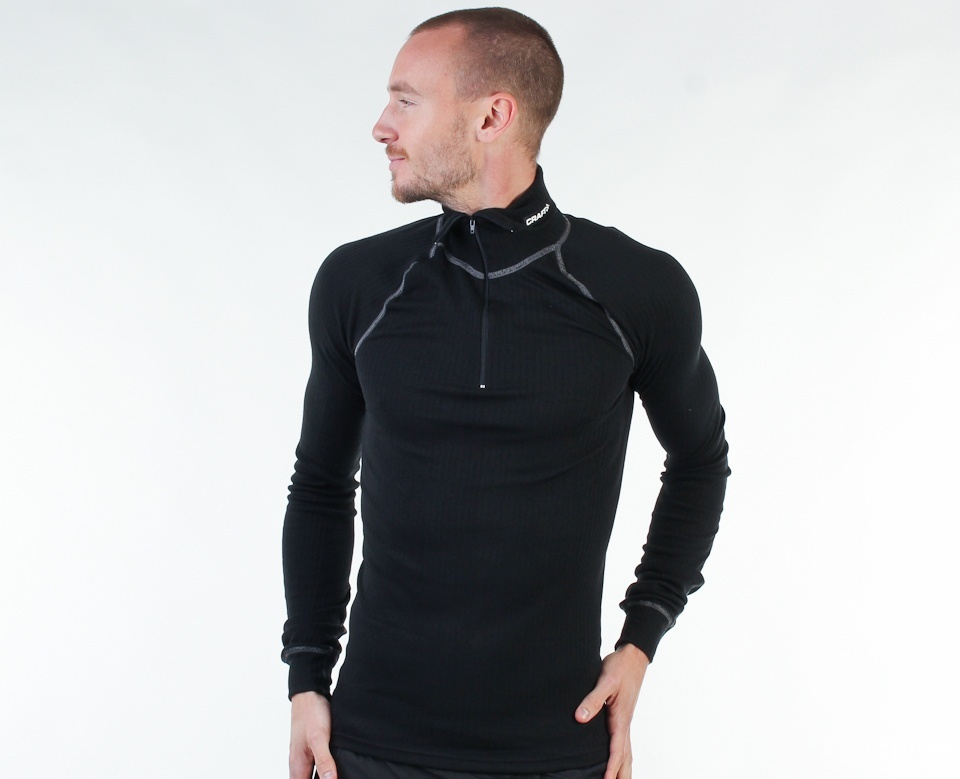 Мужской комплект рубашек Craft Active Zip Grey+Black (194034-2999-194034-3950) фото