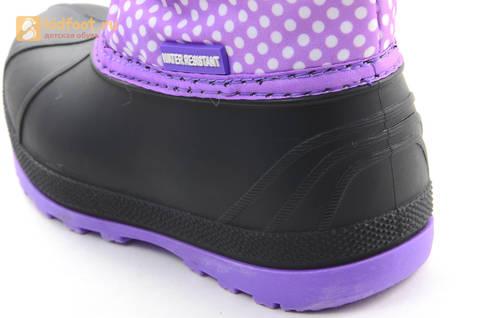 Зимние сапоги для девочек непромокаемые с резиновой галошей Пони (My little Pony), цвет сиреневый, Water Resistant. Изображение 12 из 15.