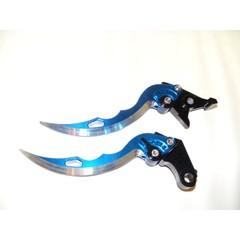 Короткие рычаги тормоза/сцепления в форме ножей для мотоциклов Suzuki Голубой