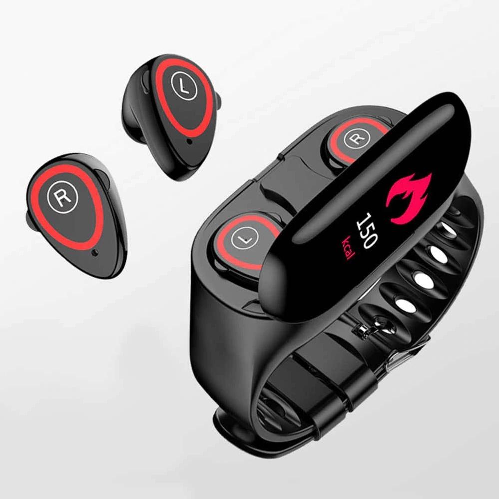 Smart Bracelet М1 с Bluetooth наушниками TWS 2 в 1