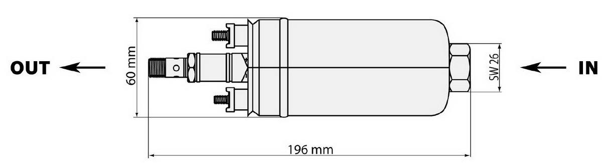 Схема топливного насоса Bosch 0580254044 вход/выход