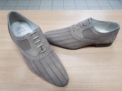 Летние мужские туфли Etor кожаные бежевого цвета