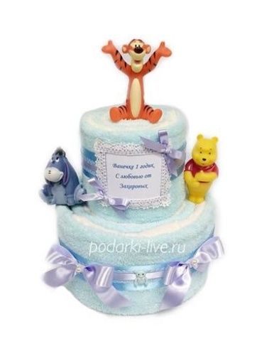 Торт из полотенец для ребенка