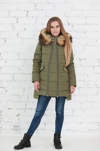 Куртка 2в1 для беременных 10840 хаки