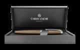 Перьевая ручка Carandache Leman CAVIAR SP (F) латунь лак посеребрение с родиевым напылением (4799.487)