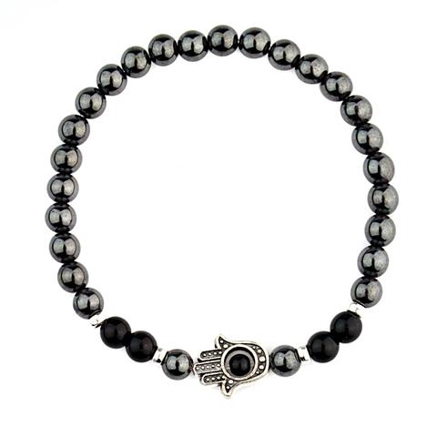 Стильный муской браслет из натуральных камней Хамса BRUTALLINI BNS051