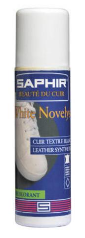Жидкий белый краситель для гладкой кожи и текстиля, Saphir White Novelys, 75 мл.