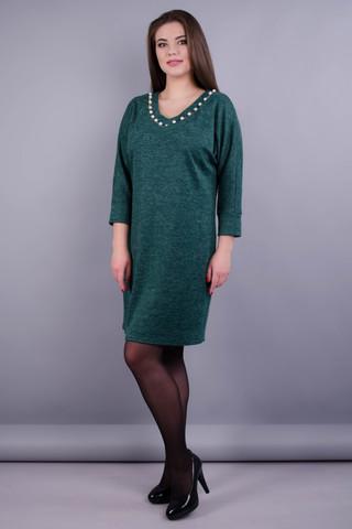 Берта. Оригінальна сукня великих розмірів для жінок. Смарагд.